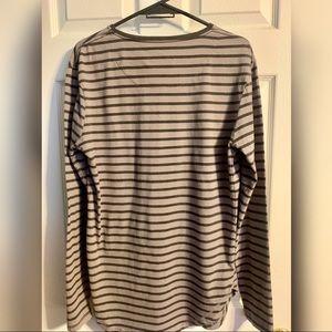 Cotton On Shirts - Cotton on striped long sleeve grey/black